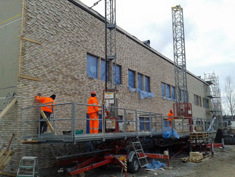 Roboty budowlane w Gällivare (Szwecja)