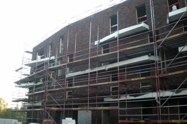 Fasada klinkierowa budynków mieszkalnych w Gent (Belgia)