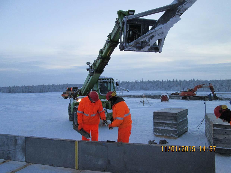 Budowa kruszarni dla rud żelaza oraz tunelu i fundamentów żelbetowych dla suwnicy (Szwecja)