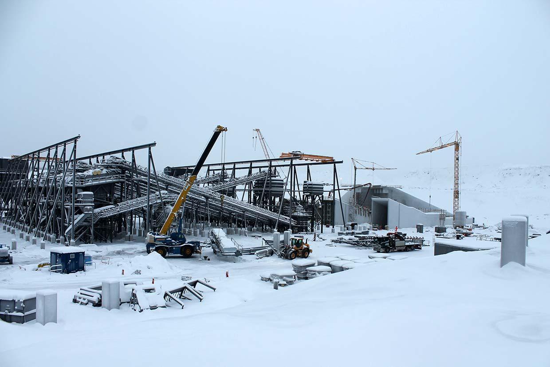 Roboty żelbetowe fundamentów, ścian oraz stropów budynku kruszarni w Leveäniemi, Svappavara (Szwecja)