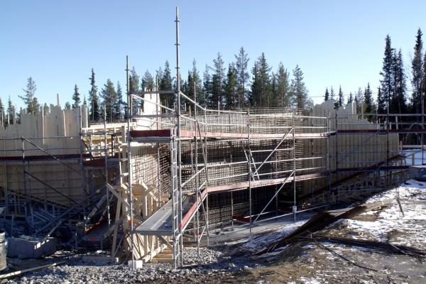 Budowa wiaduktu w Malmberget (Szwecja)