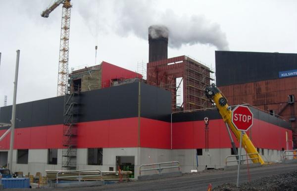 Budowa fundamentów pod konstrukcję filtra spalin dla kombinatu górniczego LKAB w Svappavaara (Szwecja)