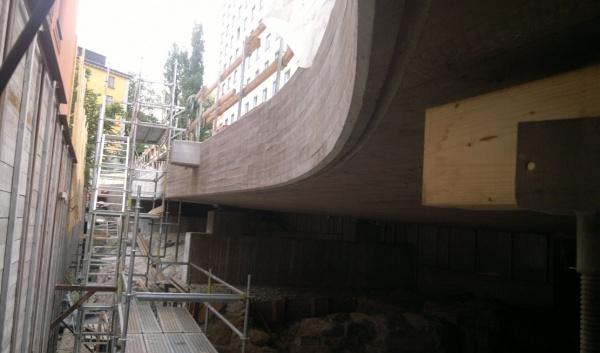 Przyszły wiadukt drogowy dla Hälsobrunnsgatan w Sztokholmie (Szwecja)