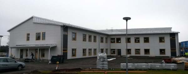 Wykonanie kompletnej konstrukcji betonowej wylewanej na mokro w Vännäs, Fritidsvägen (Szwecja)